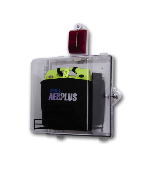AED Plus clear cabinet
