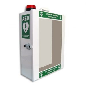 HeartSine Cabinet w alarm&red flashing light