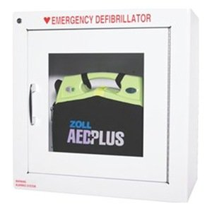 ZOLL AED cabinet with alarm