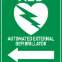 AED Sign - Arrow to Left