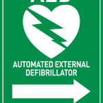 AED Sign - Arrow to Right