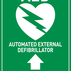 AED Sign - Arrow Upwards Stickers