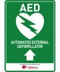 AED sign arrow upwards