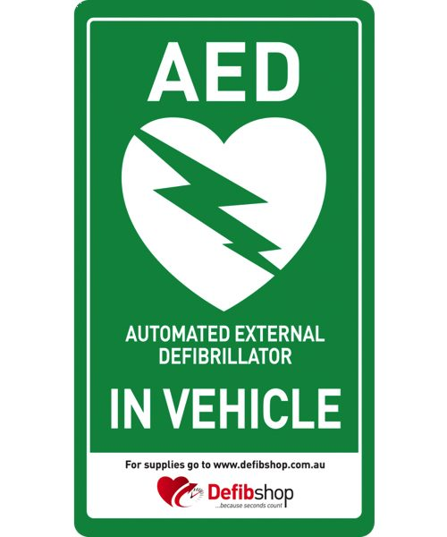 AED Sign In-Vehicle sticker