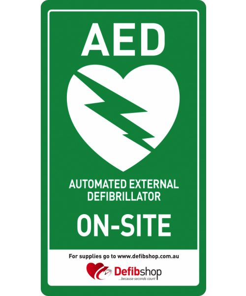 Aed Sign Arrow To Left Stickers Pack Of 2 Defibshop