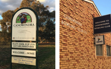 Canowindra Bowling Club Sign